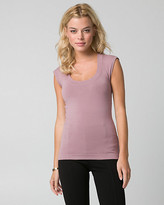 Le Château Viscose Blend Scoop Neck Sweater Shell