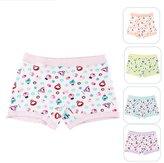 Aivtalk Cartoon Organic Cotton Stretch Printing 5 Pack Girls Boxer Briefs Underwear Size 2T