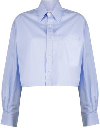 R 13 Cropped Striped Shirt