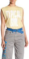 Love Moschino Typical Girl Front Graphic Print Muscle Tee
