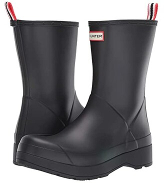 Hunter Play Boot Short (Black) Men's Rain Boots