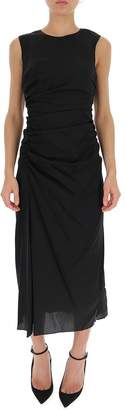Theory Sleeveless Draped Midi Dress