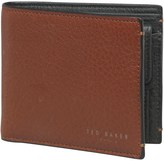 Ted Baker Mens Camlock Contrast Small Icon Boxed Leather Bifold Wallet Tan