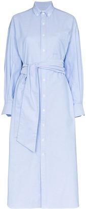 Hyke Tie-Waist Shirt Dress