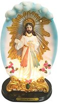 Love's Gift Inc. 12 Inch Divine Mercy with Light Divine Mercy Statue Atop