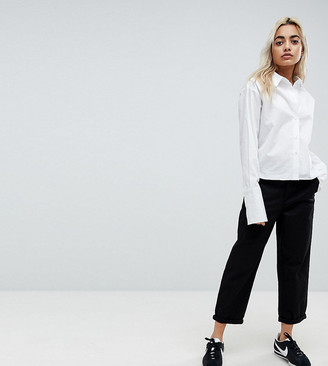 Asos DESIGN Petite chino pants in black