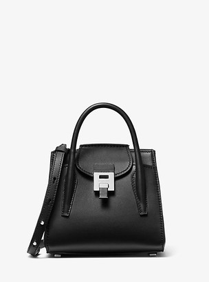 Michael Kors Bancroft Mini Calf Leather Satchel - Black