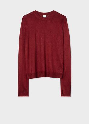 Paul Smith Women's Dark Red Glitter Sweater