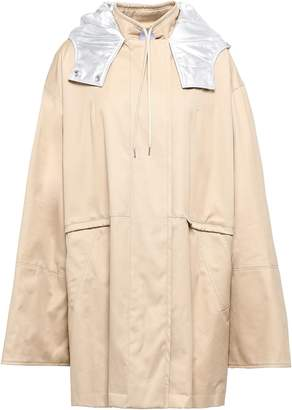 Paco Rabanne Cotton-blend Gabardine Hooded Coat