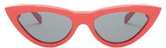 Celine Cat-eye Acetate Sunglasses - Womens - Red