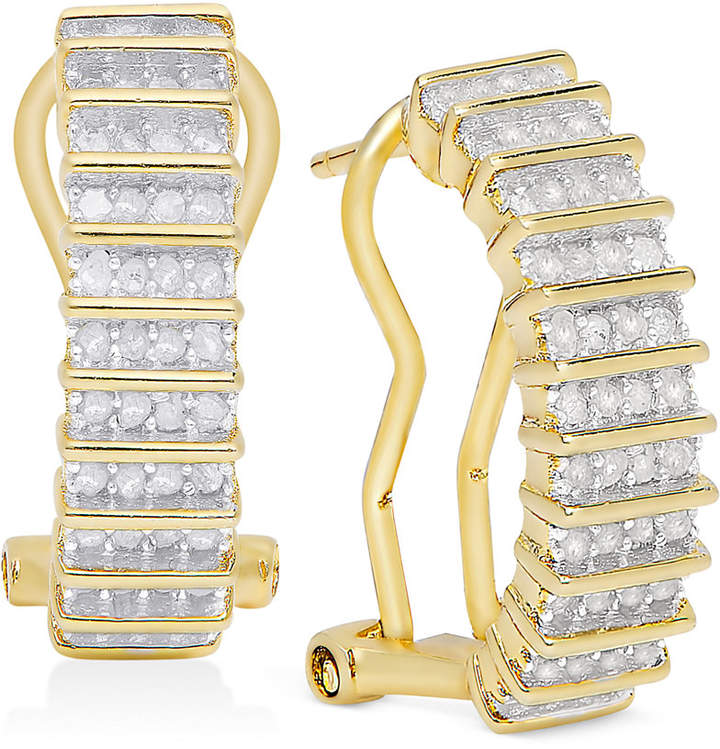 Townsend Victoria Rose-Cut Diamond Hoop Earrings (1/2 ct. t.w.) in 18k Gold over Sterling Silver or Sterling Silver