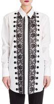 Dolce & Gabbana Sequin & Lace-Embellished Poplin Shirt