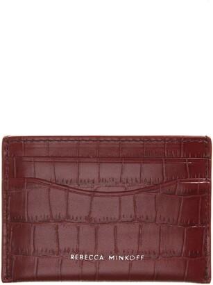 Rebecca Minkoff Croc Embossed Leather Card Case