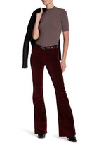 MiH Jeans Lou Velvet Flared Pant