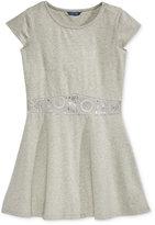 GUESS Lace-Trim Jersey Dress, Big Girls (7-16)