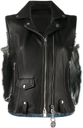 Diesel L-Wells sleeveless biker jacket