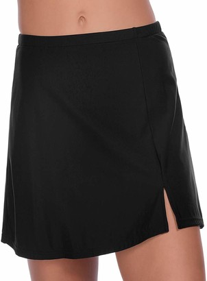 Penbrooke Women's Plus-Size Solid Skirted Bottom