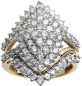 JCPenney FINE JEWELRY 2 CT. T.W. Diamond 10K Yellow Gold Marquise-Shape Cocktail Cluster Ring