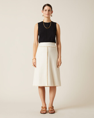 Jigsaw Basket Tweed Midi Skirt