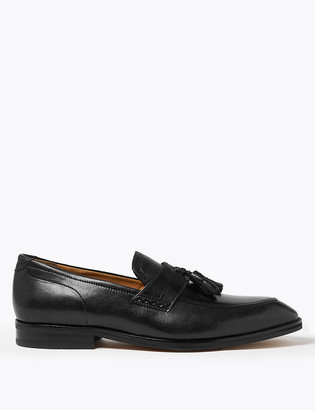 Marks and Spencer Big & Tall Leather Saddle Tassel Loafers