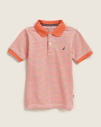 Nautica Boys 4-7) Cole Stripe Short Sleeve Polo