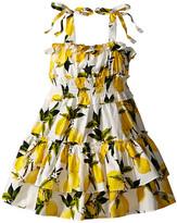 Dolce & Gabbana Limoni Poplin Dress (Toddler/Little Kids)