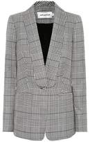 Self-Portrait Woven plaid blazer
