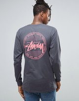 Stussy Long Sleeve T-shirt With Vintage Dot Back Print