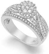 Macy's Diamond Engagement Ring in Sterling Silver (3/4 ct. t.w.)