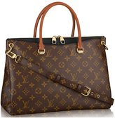 Louis Vuitton Authentic Monogram Canvas Pallas Handbag Article: M41147 Made in France