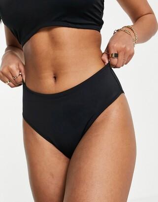 Pour Moi? Pour Moi Fuller Bust Space high waist bikini bottom in black