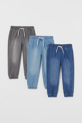 H&M 3-pack Denim Joggers - Blue