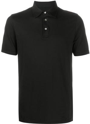 Fedeli Plain Short-Sleeved Polo Shirt
