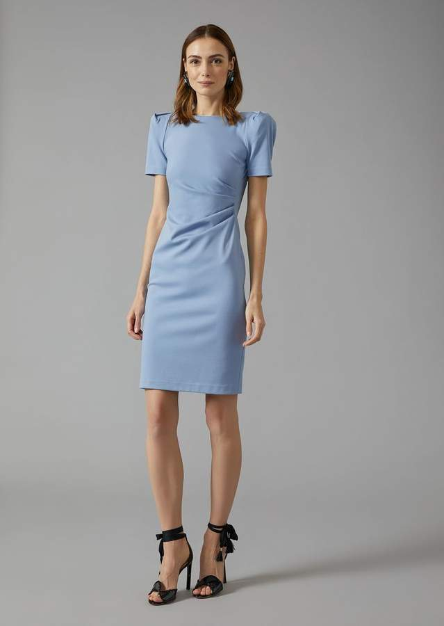 Giorgio Armani Sheath Dress With Gathering