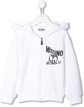 MOSCHINO BAMBINO Zip Front Hoodie