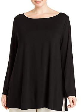 Eileen Fisher Plus Boat Neck Tunic Top
