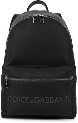 Dolce & Gabbana Black logo nylon backpack
