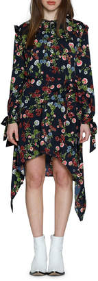 Walter Baker Andrea Floral Print Ruffle Sheath Dress