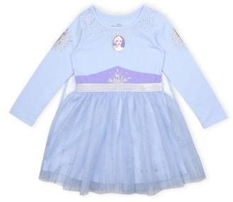 Disney Frozen 2 Elsa Toddler Girl Long Sleeve Tutu Cape Dress