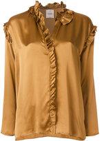 Nude frill trim blouse