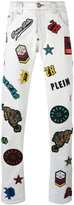 Philipp Plein embroidered patch jeans - men - Cotton/Polyester/Spandex/Elastane - 32