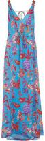Matthew Williamson Pineapple Paisley Silk-Mousseline Maxi Dress
