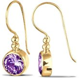 Goldhimmel 03200116 Ladies'Earrings Silver Gold-Plated