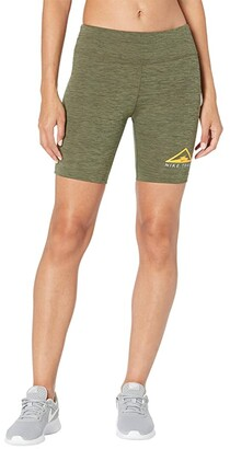 Nike Fast Shorts Trail (Sequoia/Medium Olive/Heather/Reflective Silver) Women's Shorts