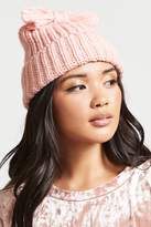 Forever 21 Floppy Bow Cable Knit Beanie
