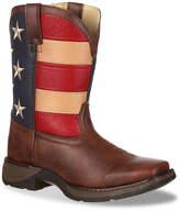 Durango Patriotic Flag Toddler & Youth Cowboy Boot - Girl's