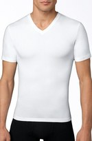 Spanx V-Neck Cotton Compression T-Shirt