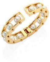 Lele Sadoughi Hinged Faux-Pearl Slider Bracelet