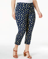 Charter Club Plus Size Bristol Lemon-Print Capri Jeans, Only at Macy's