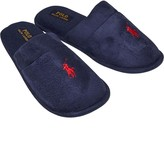 Ralph Lauren Mens Sunday Scuff Slippers Navy